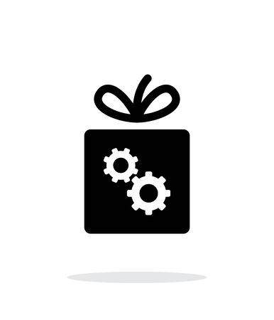 gear box: Box with gear icon on white background.