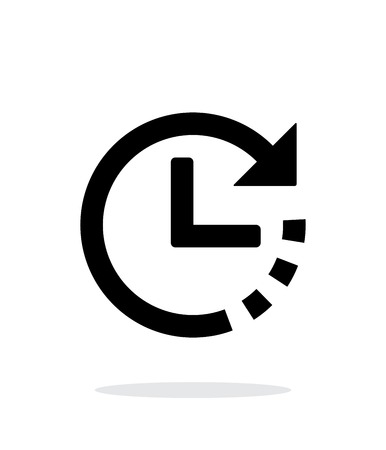 Timer icon on white background.