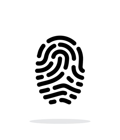 Fingerprint scanner icon on white background. Vector illustration.