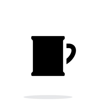 Beer mug simple icon on white background. Vector