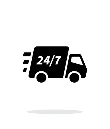 Delivery support seven days a week icon on white background. Vector illustration.