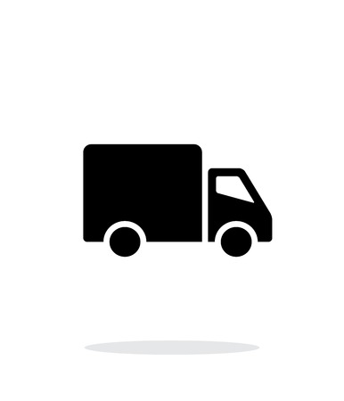 Delivery Truck icon on white background. Vector illustration. Illustration