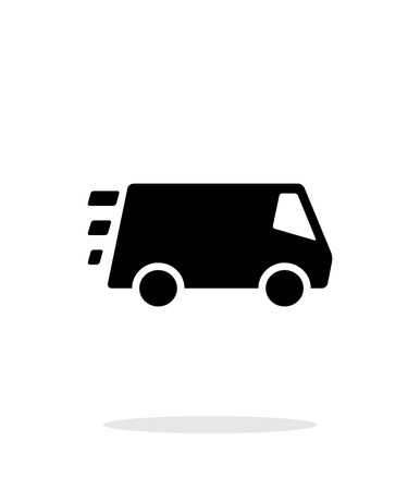 Fast delivery Minibus icon on white background. Vector illustration. Illustration