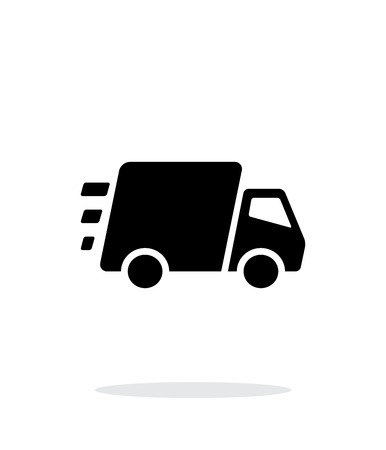 moving truck: Fast delivery Truck icon on white background. Illustration