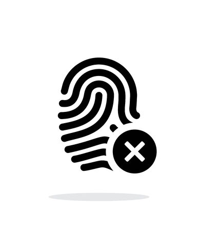 Fingerprint rejected icon on white background. Vector illustration.
