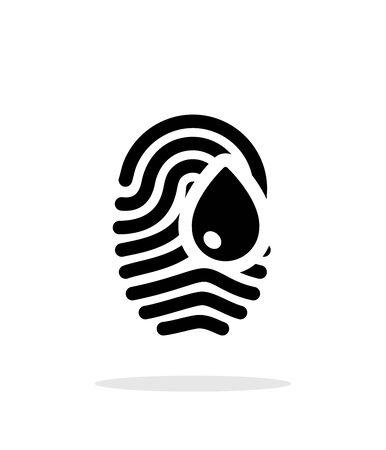 Damage fingerprint icon on white background.