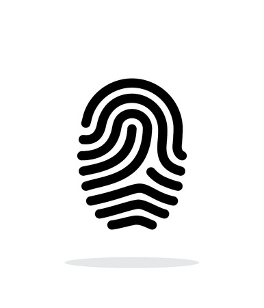 Fingerprint loop type icon on white background. Vector illustration. Illustration
