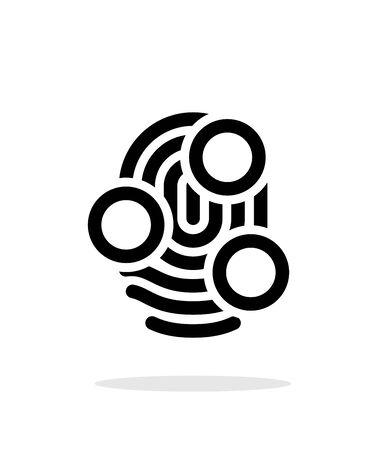 whorl: Fingerprint whorl type scan icon on white background. Vector illustration.