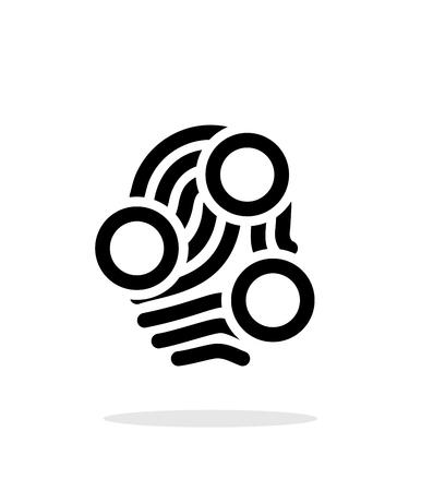 Fingerprint loop type scan icon on white background. Vector illustration.