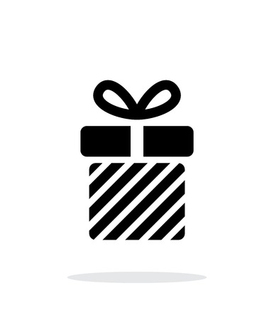 Striped gift box icons on white background. Vector illustration. Vector illustration. Illustration