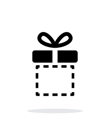 Gift box empty icons on white background. Vector illustration. Vector illustration.