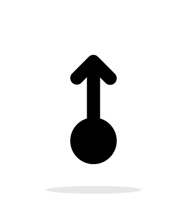 nudge: Scroll up gesture abstract icon. Vector illustration.
