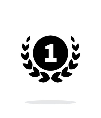 First place medal icon on white background. Vector illustration.  イラスト・ベクター素材