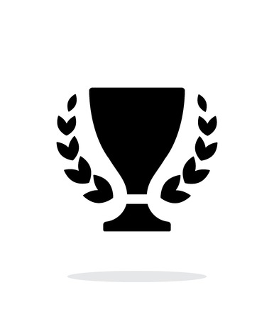 Trophy and awards icon on white background. Vector illustration. Illustration