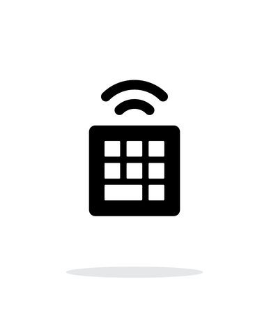 qwerty: Wireless small keyboard simple icon on white background. Vector illustration.