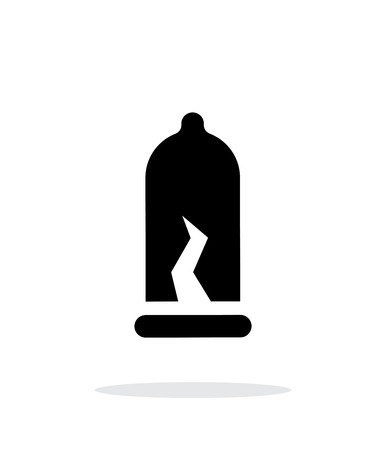 semen: Damaged Condom icon on white background. Vector illustration. Illustration