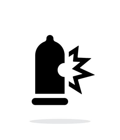 Condom bursting icon on white background. Vector illustration. Illustration