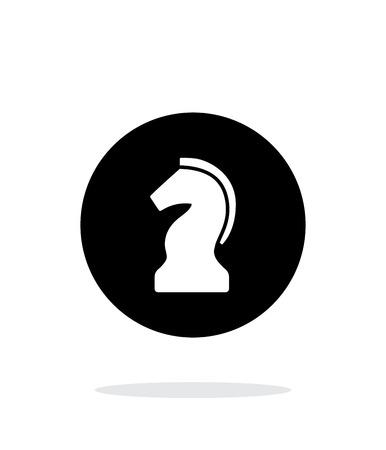 chess knight: Caballero del ajedrez simple icono en el fondo blanco. Ilustraci�n del vector.