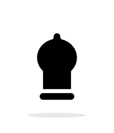 Condom icon on white background. Vector illustration. Illustration