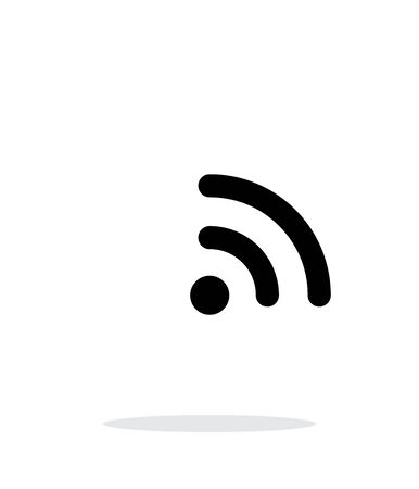 really simple syndication: Radio signal Wi-Fi icon on white background. Wireless technology. Vector illustration.