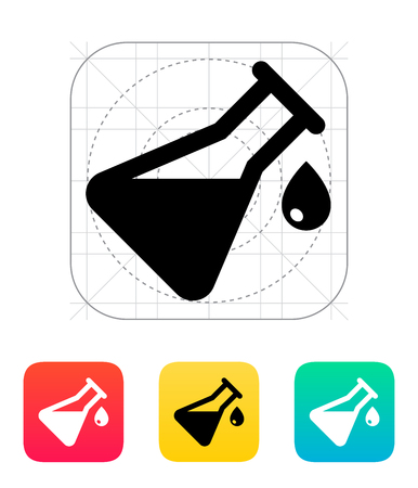 Drop from flask icon. Vector illustration. Vector