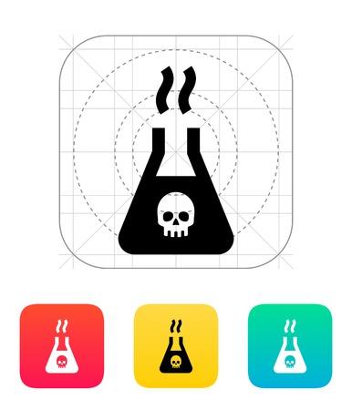 toxic substance: Dangerous substance icon. Vector illustration. Illustration