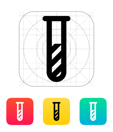 pandemia: Test tube with substance icon. Vector illustration.