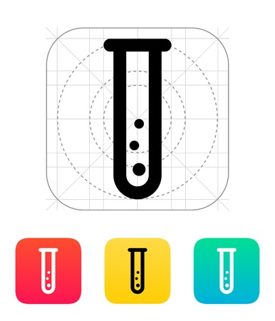 Test tube with gas icon. Vector illustration. Vector