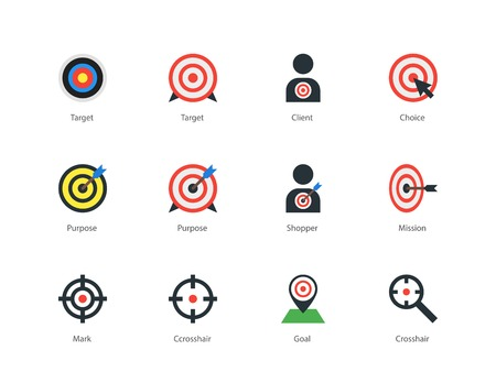purpose: Target icons on white background.