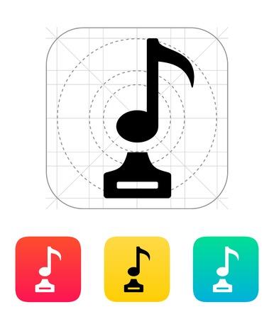 Music icon on white background.