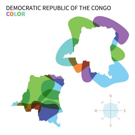 democratic republic of the congo: Abstract vector color map of Democratic Republic Congo. Illustration