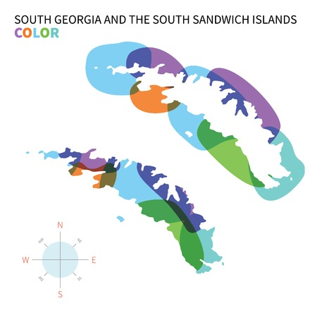 edward: Abstract vector color map of South Georgia and Sandwich Islands.