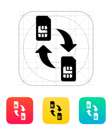 twain: Replacement and exchange SIM cards icon.