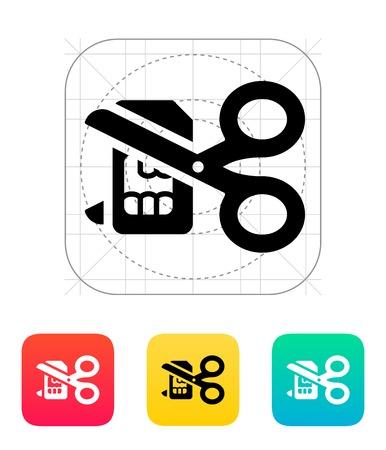 sim card: Deactivation SIM card icon.