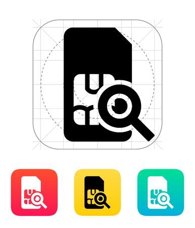 prepaid: SIM card search icon.