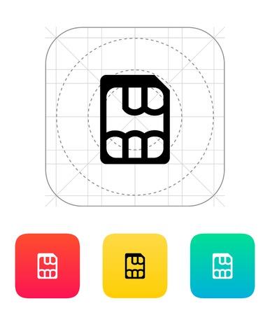 nano: Nano SIM icon. Illustration