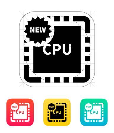 microelectronics: New CPU icon. Vector illustration. Illustration