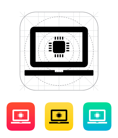 chipset: Laptop CPU icon. Vector illustration.