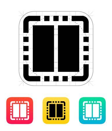 dual: Dual Core CPU icon. Vector illustration.