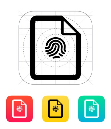 Fingerprint on file icon.