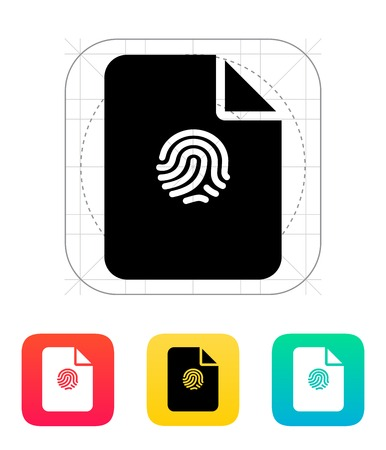 dactylogram: File with fingerprint icon.