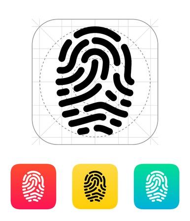 scanner: Fingerprint scanner icon. Illustration