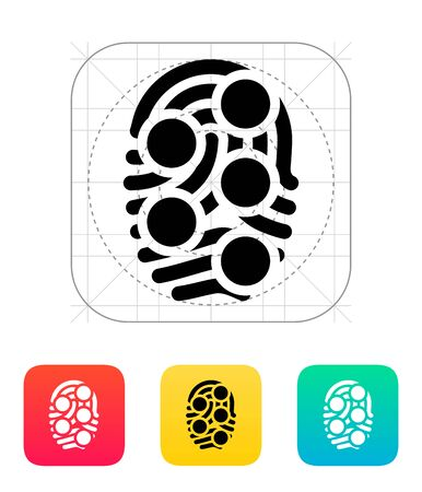 dactylogram: Fingerprint loop type scan icon.
