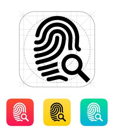 thumbprint: Fingerprint and thumbprint icon. Illustration