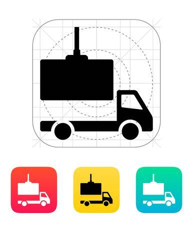 loading truck: Truck loading icon.