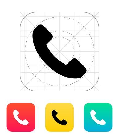 Call answer icon. Vector