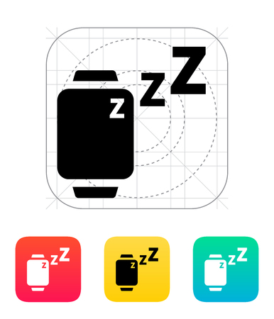 mode: Sleep mode in smart watches icon.