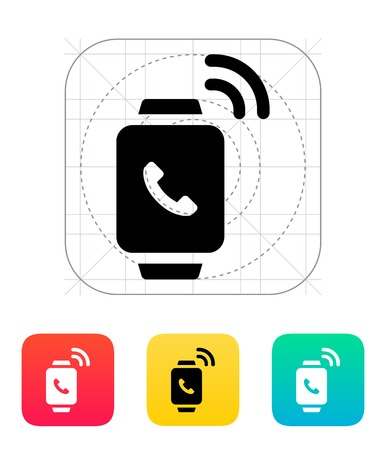 Incoming call on smart watch icon. Vector