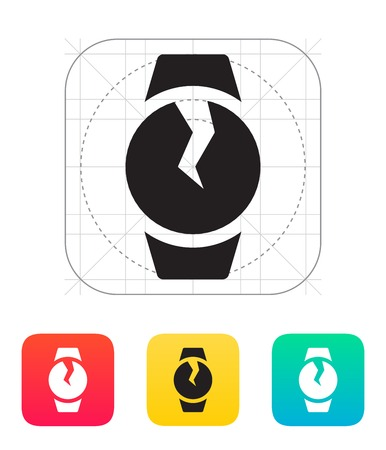 breakage: Broken round smart watch icon.