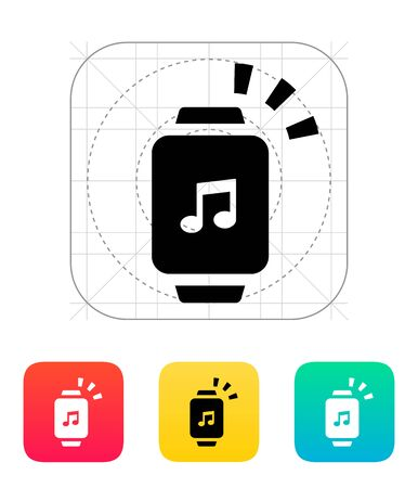 outgoing: Outgoing sound from smart watch icon. Illustration